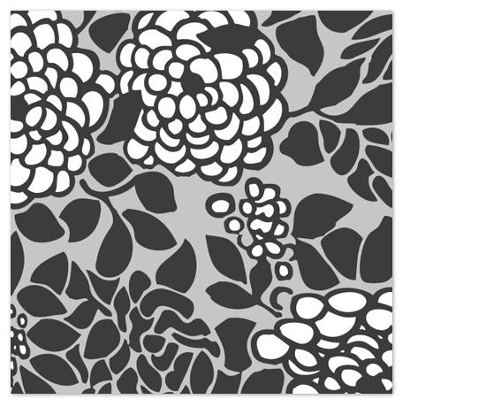 art prints - Grey_Flowered_square_2of3 by Tereza Šašinková Lukášová