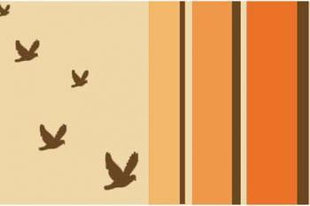 Retro Birds Flying Art Print