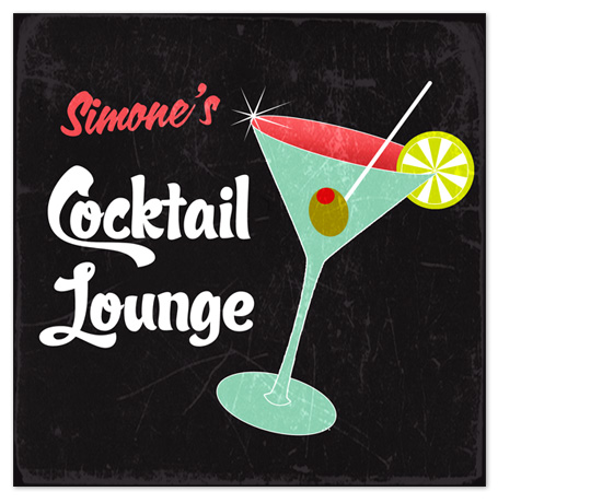 art prints - COCKTAIL LOUNGE by Designkandy