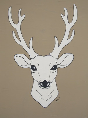 art prints - Seriously Deer by Melanie Daily