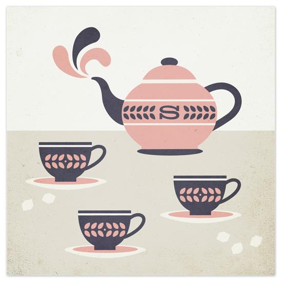 art prints - tea party by Susan Asbill