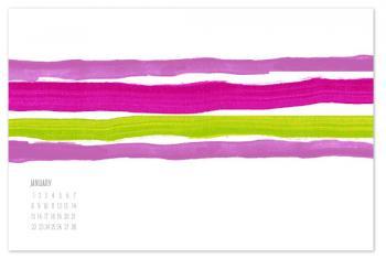 Bold Stripe Calendar