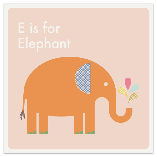 art prints - Alphabet: E by Amber Barkley