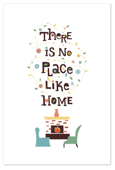 art prints - there's no place like home by Anais Lee