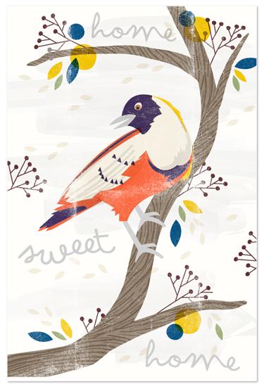 art prints - treetop by leslie hamer