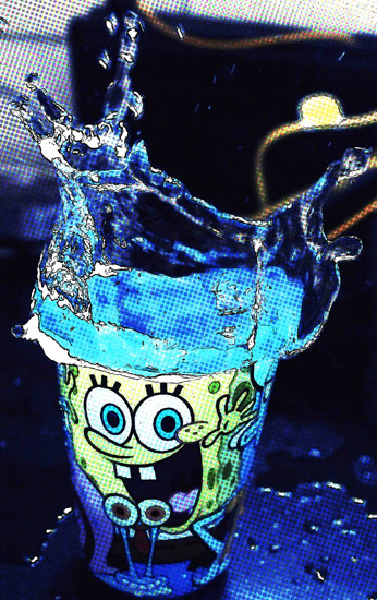 art prints - sponge bob blue by yakshit goel
