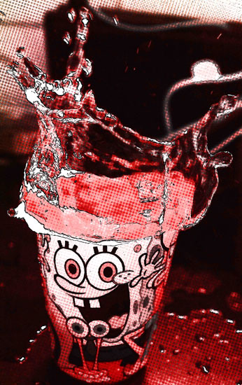 art prints - sponge bob red by yakshit goel