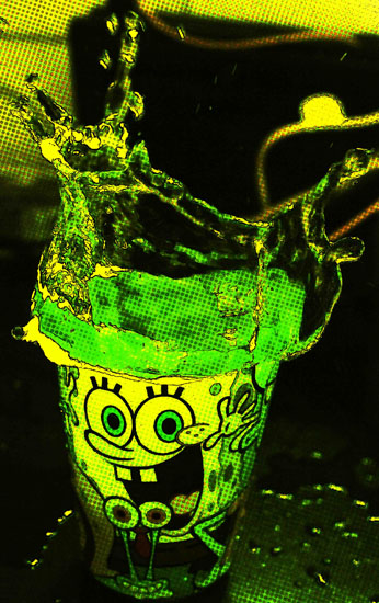 art prints - sponge bob green by yakshit goel