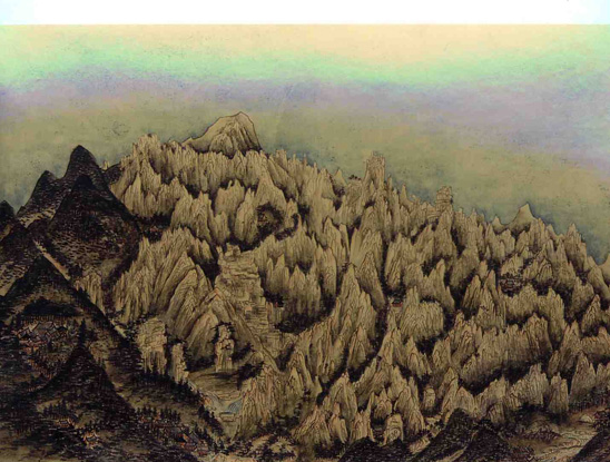 art prints - Extraordinary view of Mt. Geumgang - v2 by Kumoak Rang