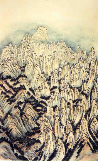 art prints - Extraordinary view of Mt. Geumgang - v3 by Kumoak Rang