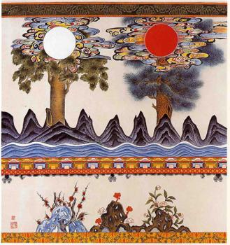 Rising sun & moon