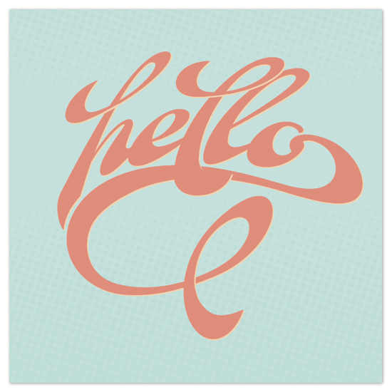 art prints - Hello by GeekInk Design