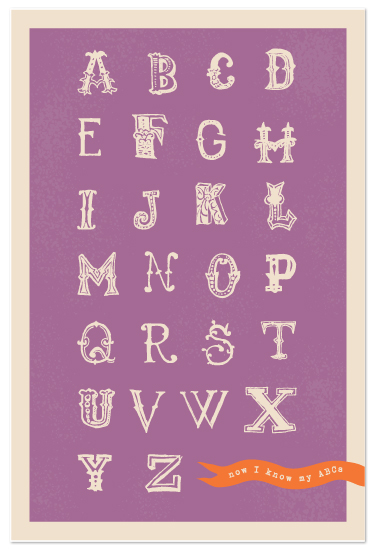 art prints - Alphabet Whimsy by Lehan Veenker