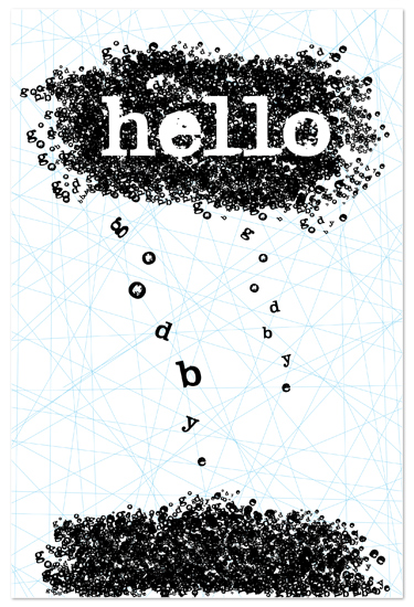 art prints - hello goodbye by blackwhite press