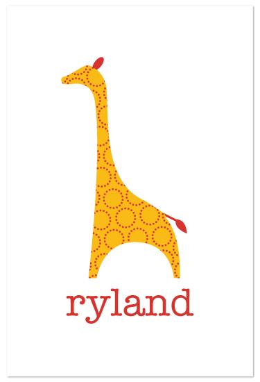 art prints - Patterned Giraffe by Ampersand Design Studio