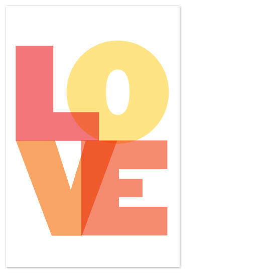 art prints - LOVE  by Max and Bunny