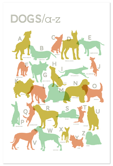 art prints - Alphabet Dogs by Shari Margolin