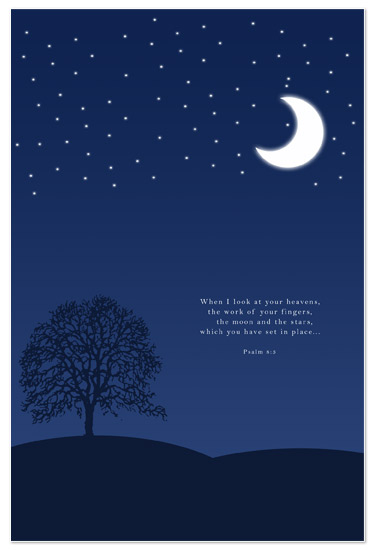 Art Prints Moon And Stars Bible Verse At Minted Com