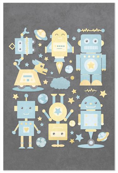 art prints - The Robot Collective by Dawn Jasper