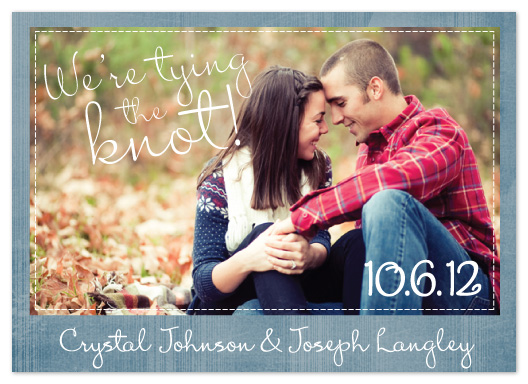 save the date cards - Love in Denim by cmdesign