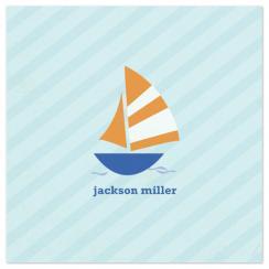 Nautical Stripes Sailboat