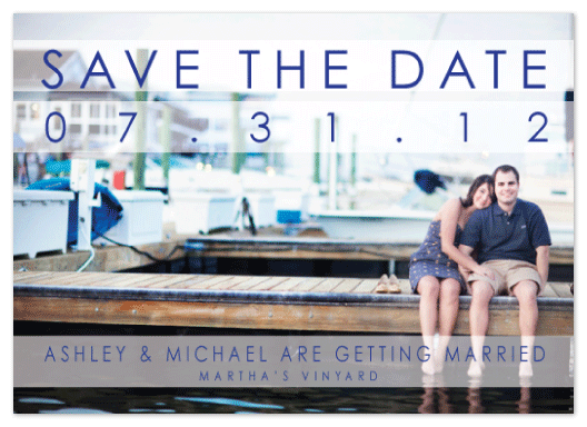 save the date cards - Nautical Stripe  by Stella Bella Invites