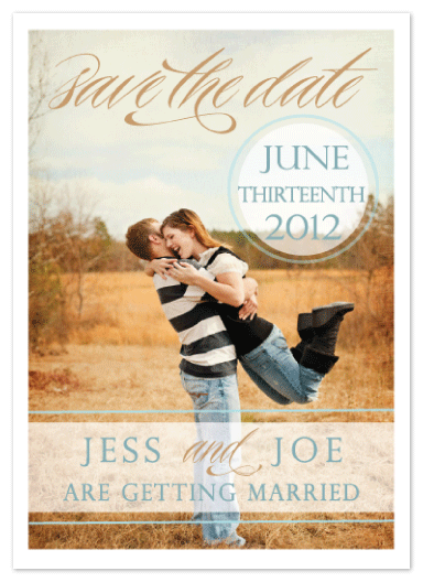 save the date cards - summer field wedding by Stella Bella Invites