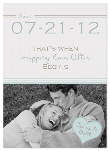 save the date cards - Happily Ever After Begins by My Sweetie Pie