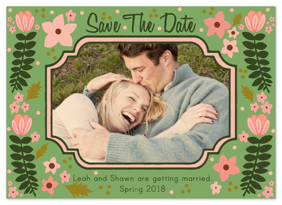 save the date cards - A garden of love. by Snapdragon Design Co.