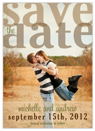 save the date cards - Cream of the Crop by Invites by Jen