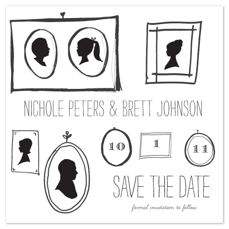 save the date cards - Silhouettes in Love by Lulubean Designs