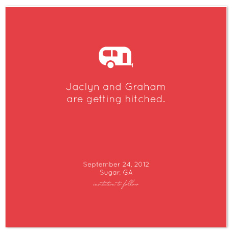 save the date cards - Hitched by Susan Crispell