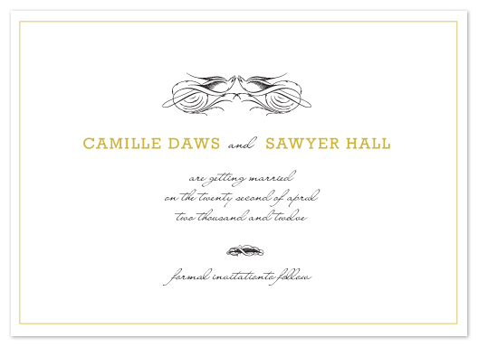 save the date cards - Birds of a Feather by emily elizabeth stationery