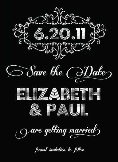 save the date cards - Glitzy Glamour by Courtney Michelle Designs