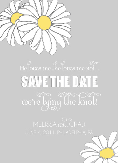 save the date cards - He Loves Me by Courtney Michelle Designs