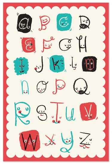 art prints - ABC friends by ERAY
