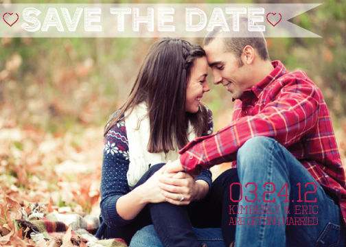 save the date cards - A Modern Vintage Kind of Love by Kim Keller
