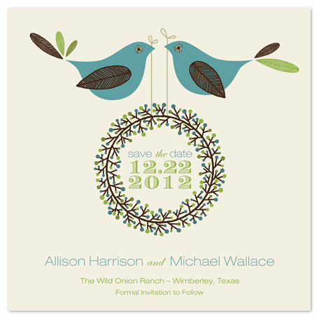 save the date cards - Two Little Birdies Told Me by Blonde Ambition