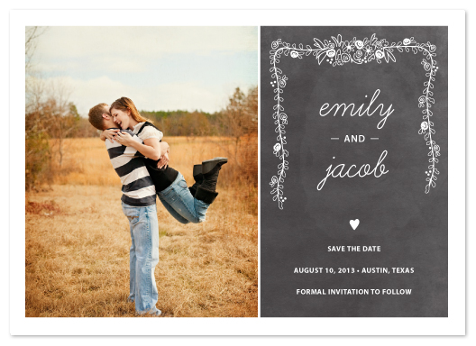 save the date cards - Chalkboard  by SimpleTe Design