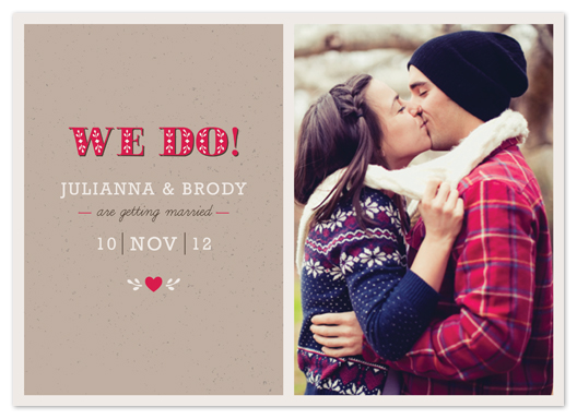 save the date cards - We Do! by Amber Barkley