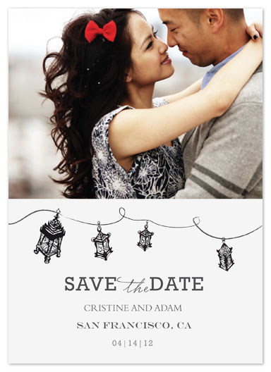 save the date cards - Love 'N Lanterns  by Jules and Ink