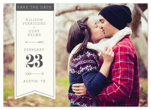 save the date cards - bold typography by five oh four design