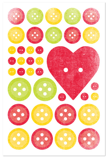 art prints - Bright Buttons by Jill Zielinski Designs