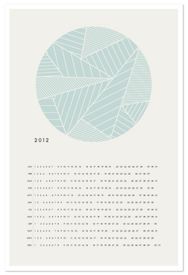 art prints - The Minimalist Calendar by Amber Barkley
