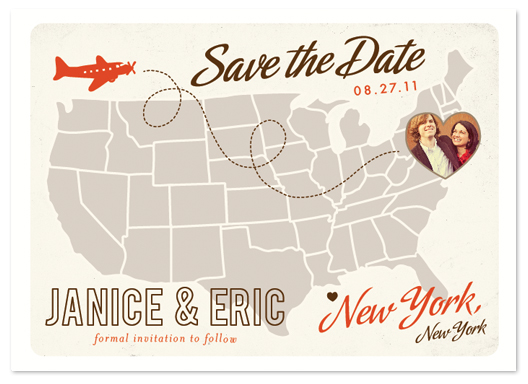 save the date cards - Up and Away by leslie hamer