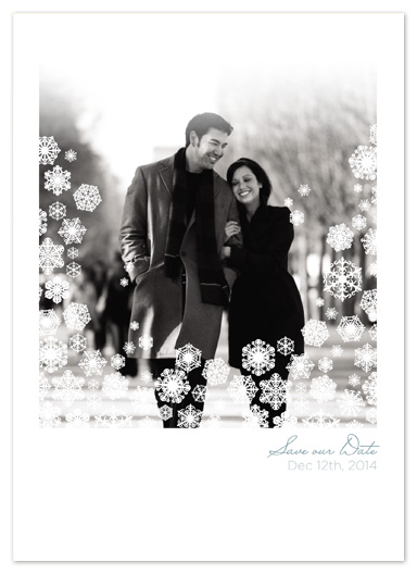 Save The Date Cards Wedding In A Winter Wonderland By Bethany Anderson