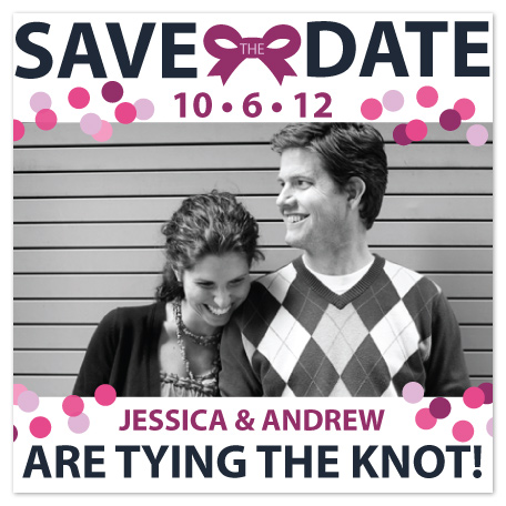 save the date cards - Knots and Dots by Elizabeth Silver