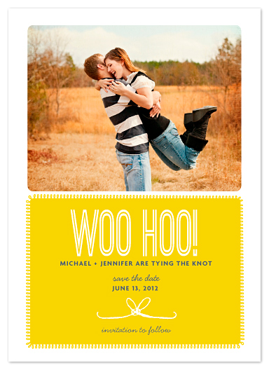 save the date cards - woohoo by wendy fessler