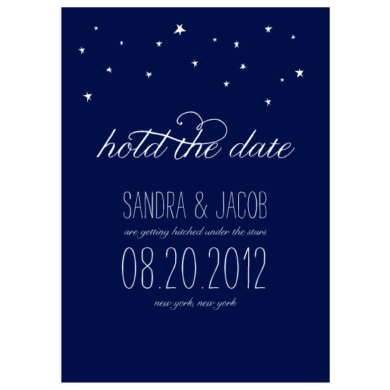 save the date cards - Starry Night by Rachel King