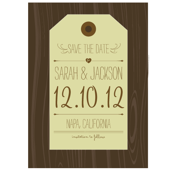 save the date cards - Hang Tag Save the Date by Rachel King